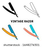 vintage razor icon in different ...