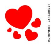 heart shape red cute isolated... | Shutterstock .eps vector #1648285114