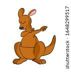 kangaroo cartoon doing dab... | Shutterstock . vector #1648299517