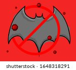 red colored hand drawn viruses...   Shutterstock . vector #1648318291