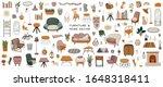 stylish scandinavian living... | Shutterstock .eps vector #1648318411