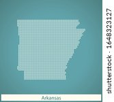 vector map of the arkansas | Shutterstock .eps vector #1648323127