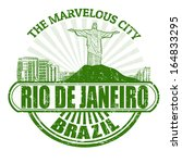 Grunge rubber stamp with the name of Rio de Janeiro ( The Marvelous City ) written inside, vector illustration - stock vector
