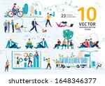 company employees  freelancers  ... | Shutterstock .eps vector #1648346377