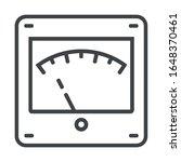 meter line icon on white... | Shutterstock .eps vector #1648370461