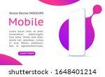 smartphone blank screen  phone... | Shutterstock .eps vector #1648401214