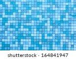 Blue Color Mosaic Background...