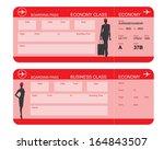 vector image of airline... | Shutterstock .eps vector #164843507