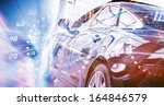 back view of automobile in... | Shutterstock . vector #164846579