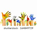 image of human hands in... | Shutterstock . vector #164849729