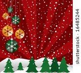 christmas background designed... | Shutterstock . vector #16485244