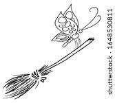 broom for cleaning. vector...   Shutterstock .eps vector #1648530811