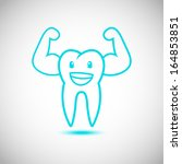 dental tooth mascot cartoon... | Shutterstock .eps vector #164853851