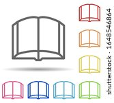 open book in multi color style...