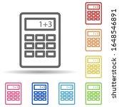 calculator in multi color style ...