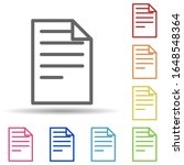 paper in multi color style icon....