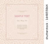 wedding card or invitation with ... | Shutterstock .eps vector #164855864