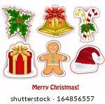 christmas decoration   Shutterstock .eps vector #164856557