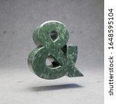 Green Marble Ampersand Symbol...