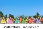 Many Colorful Wooden Guest...