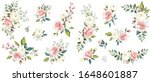 set of floral branch. flower... | Shutterstock .eps vector #1648601887