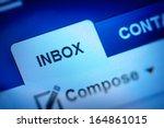 Stock photo inbox icon 164861015