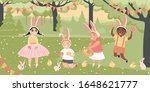 easter images. children with...   Shutterstock .eps vector #1648621777