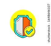shield for cyber security icon ...   Shutterstock .eps vector #1648646107