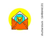 mail spam cyber security icon...   Shutterstock .eps vector #1648646131