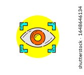 eyes recognition for cyber...   Shutterstock .eps vector #1648646134