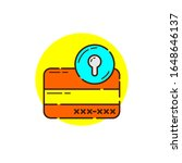 safety credit card for cyber...   Shutterstock .eps vector #1648646137