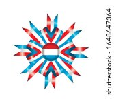 luxembourg flag  rosette and... | Shutterstock .eps vector #1648647364