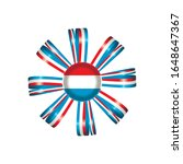 luxembourg flag  rosette and... | Shutterstock .eps vector #1648647367