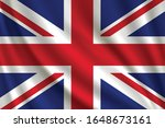 flag of united kingdom waving... | Shutterstock .eps vector #1648673161