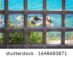 Scenic View Of Blue Sea And...