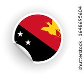 sticker of papua new guinea... | Shutterstock .eps vector #1648695604