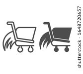 shopping cart speed line and... | Shutterstock .eps vector #1648720657