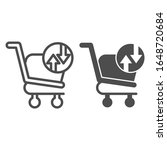 shopping basket with arrows... | Shutterstock .eps vector #1648720684