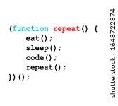 eat sleep code repeat... | Shutterstock .eps vector #1648722874