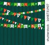 vector flag garland for st.... | Shutterstock .eps vector #1648731907