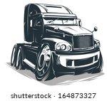 vector cartoon truck   Shutterstock .eps vector #164873327