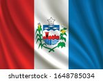 flag of alagoas waving in the... | Shutterstock .eps vector #1648785034