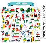 map. flag of africa. vector...   Shutterstock .eps vector #164879534
