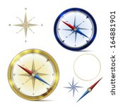 two compasses and elements of...   Shutterstock .eps vector #164881901