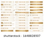set of golden title index... | Shutterstock .eps vector #1648828507