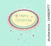 christmas frame | Shutterstock .eps vector #164883977