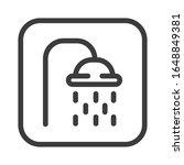 shower black line icon. public...