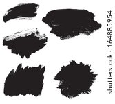 vector set of grunge brush... | Shutterstock .eps vector #164885954