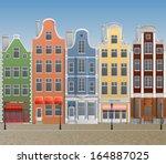 illustration of old european... | Shutterstock .eps vector #164887025