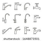 water tap icon  kitchen and... | Shutterstock .eps vector #1648873501